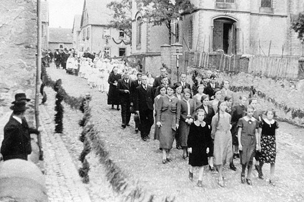 Historisches Foto des Kirchenchores